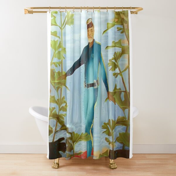 Bill Murray as Steve Zissou, Very Lifelike... Shower Curtain
