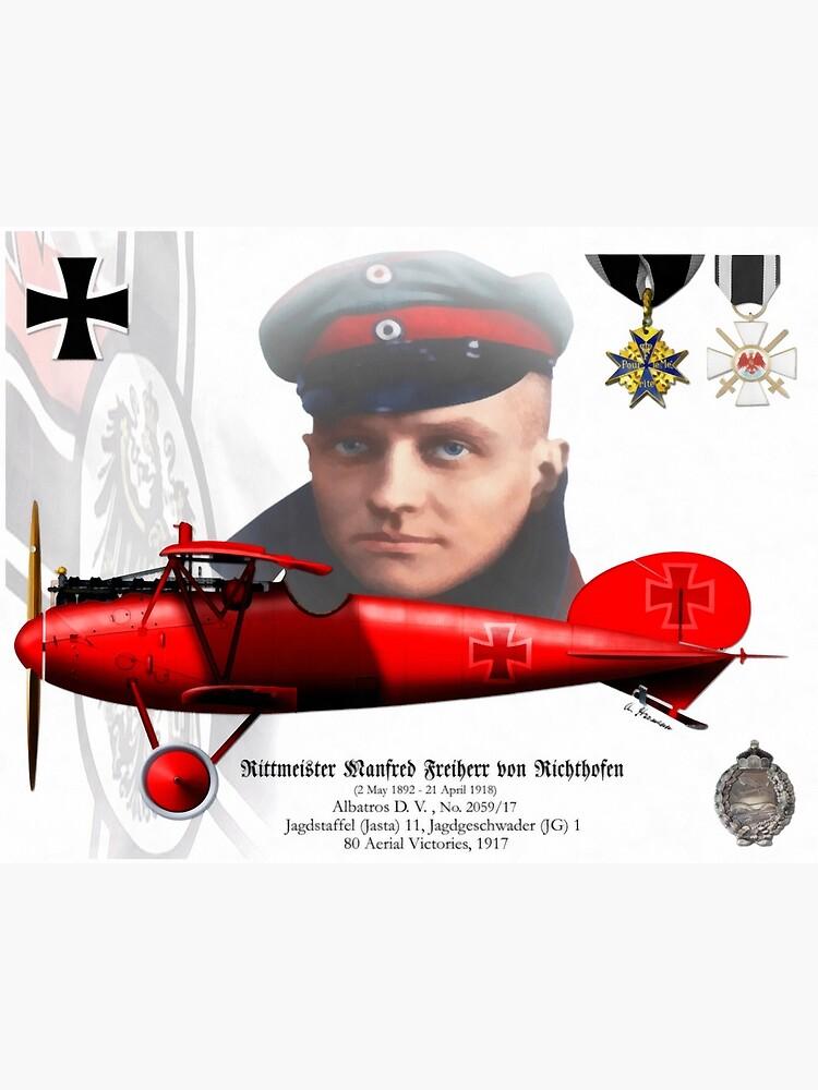 Rittmeister Manfred Freiherr von Richthofen by AH-Aviation-Art