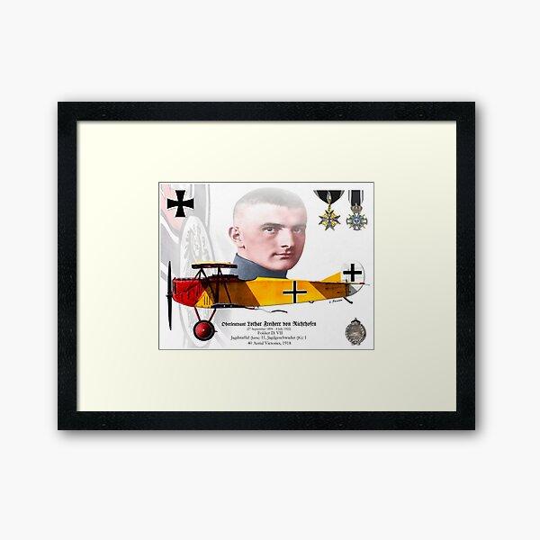 Oberleutnant Lothar Freiherr von Richthofen Framed Art Print