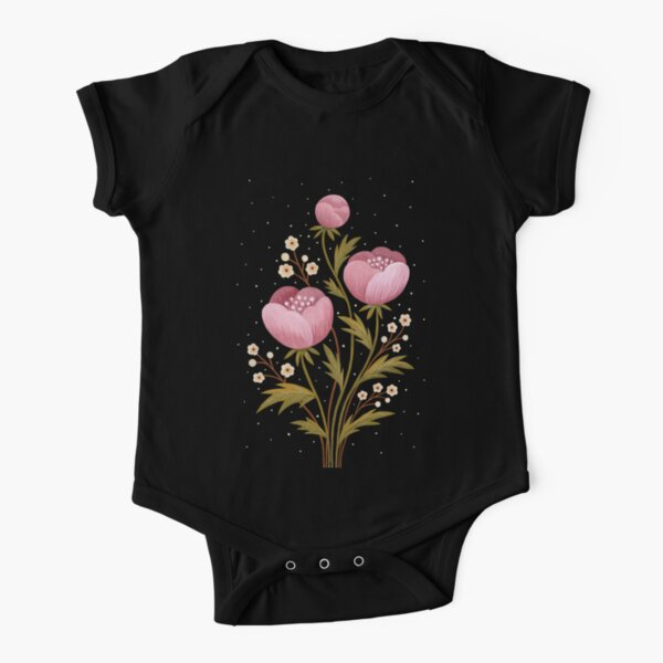 Blooms in the dark Short Sleeve Baby One-Piece