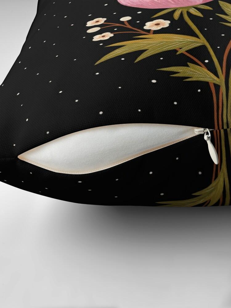 Alternate view of Blooms in the dark Floor Pillow