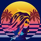 Synthwave Sunset Mane and Sunglasses by sacrasf