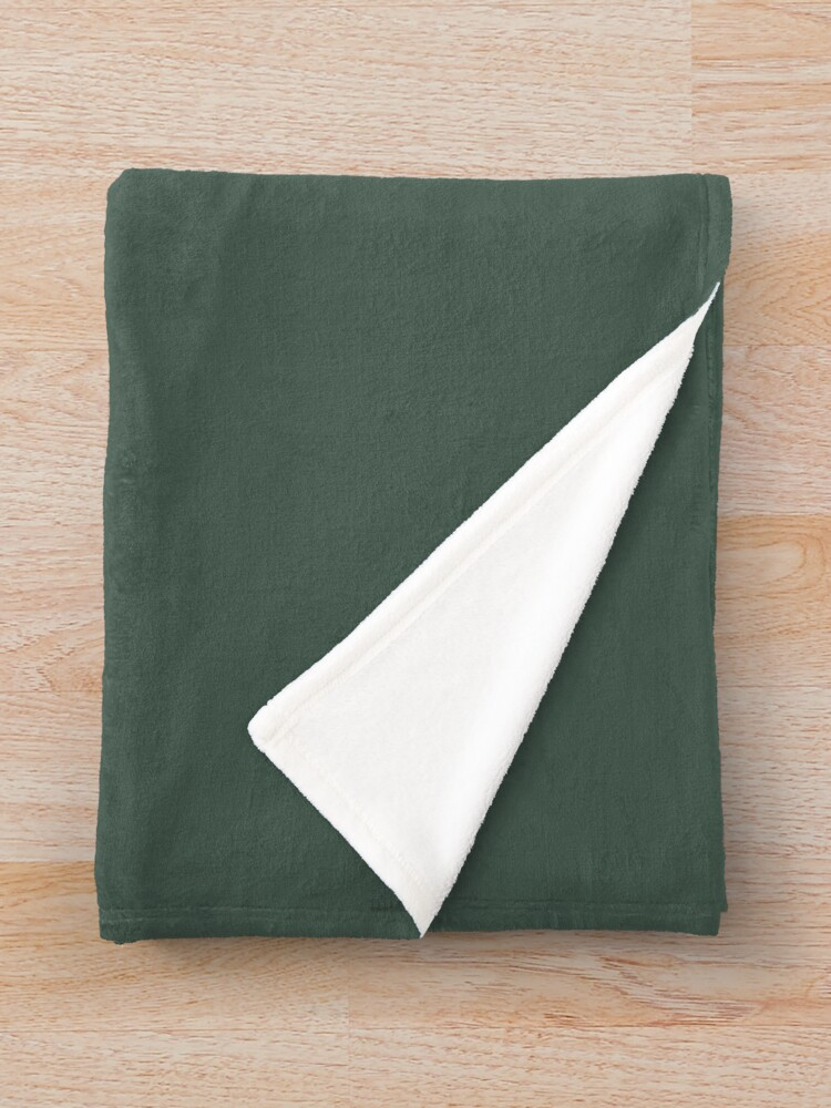 Alternate view of Forest Green Throw Blanket