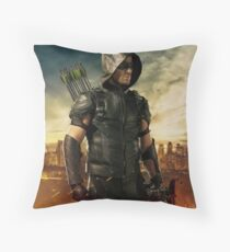 Arrow Season 4 | Green Arrow | Oliver Queen | Stephen Amell Throw Pillow