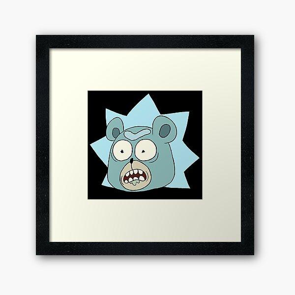 Rick and Morty: Teddy Bear Rick Framed Art Print