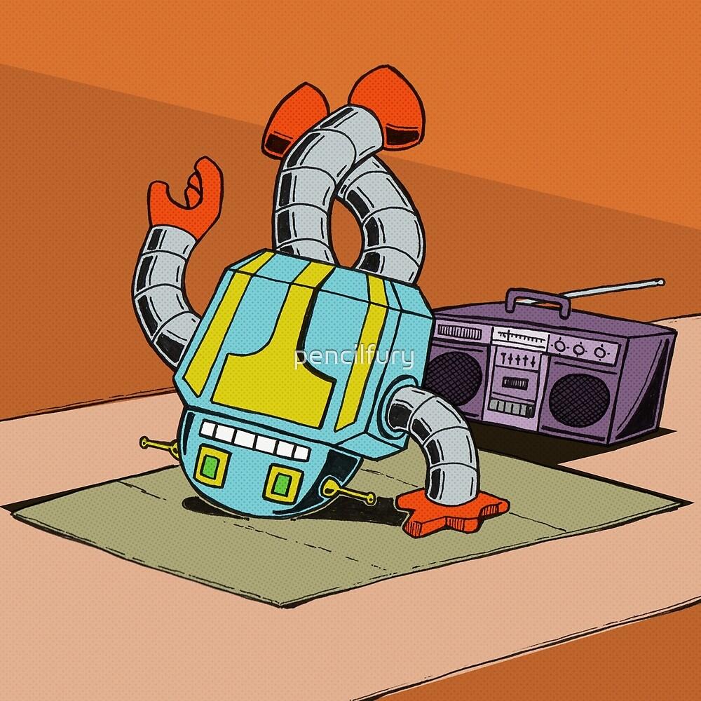BreakBot the Breakdancing Robot by pencilfury