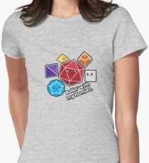 Polyhedral Pals - Rollin With My Homies - D20 Gaming Dice Women's Fitted T-Shirt