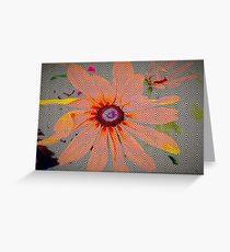 Light orange flower design Greeting Card