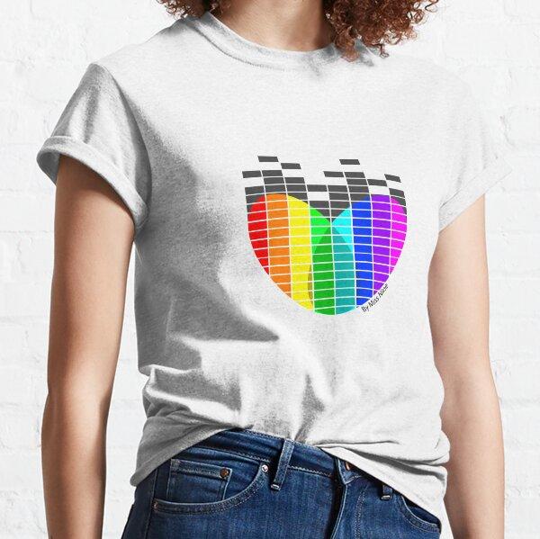 Heart Equaliser Black Classic T-Shirt