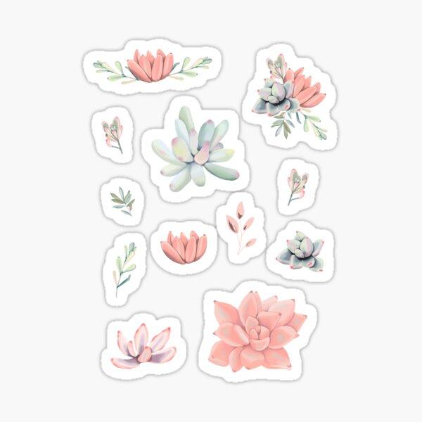 Succulent Flower Sticker Set Sticker