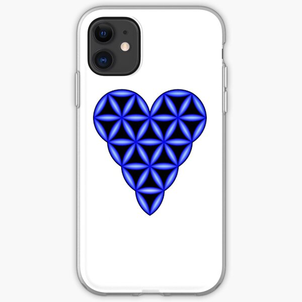 Heart of Life - 3D, Blue. iPhone Soft Case