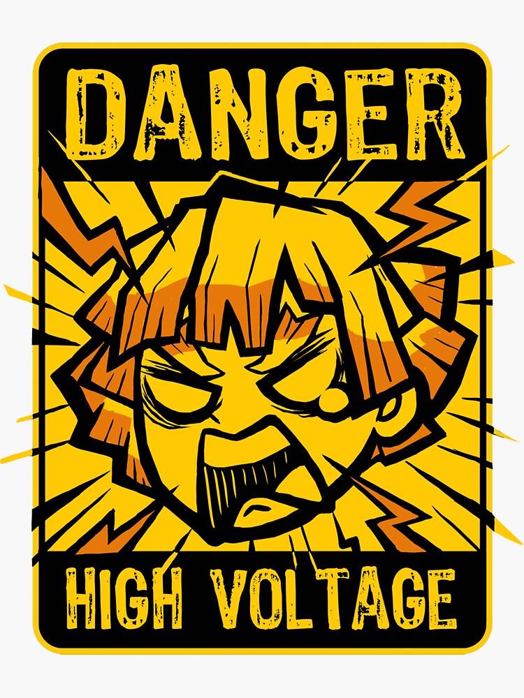 Zenitsu High Voltage - Manga Anime - Funny Character by BlancaVidal