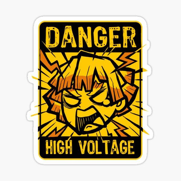 Zenitsu High Voltage - Manga Anime - Funny Character Sticker