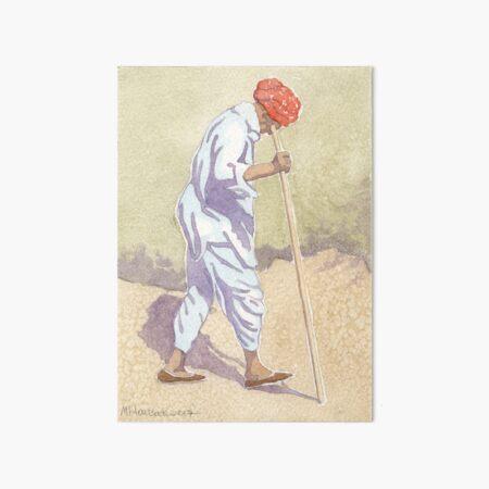 A Red Turban Art Board Print