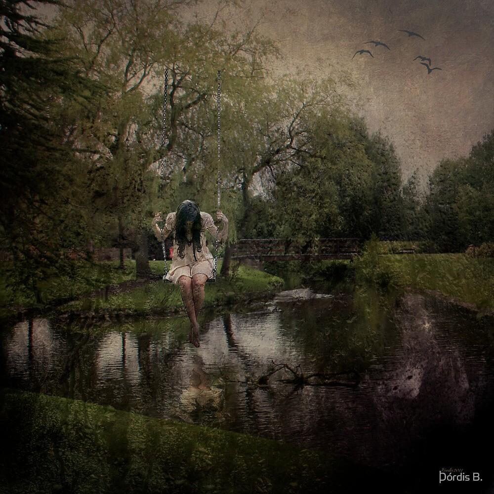 The girl in a swing by Þórdis B.