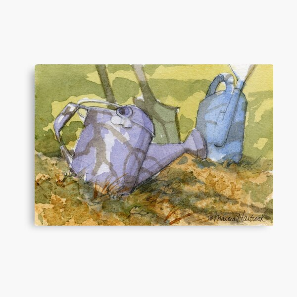 My Sister's Watering Cans Canvas Print