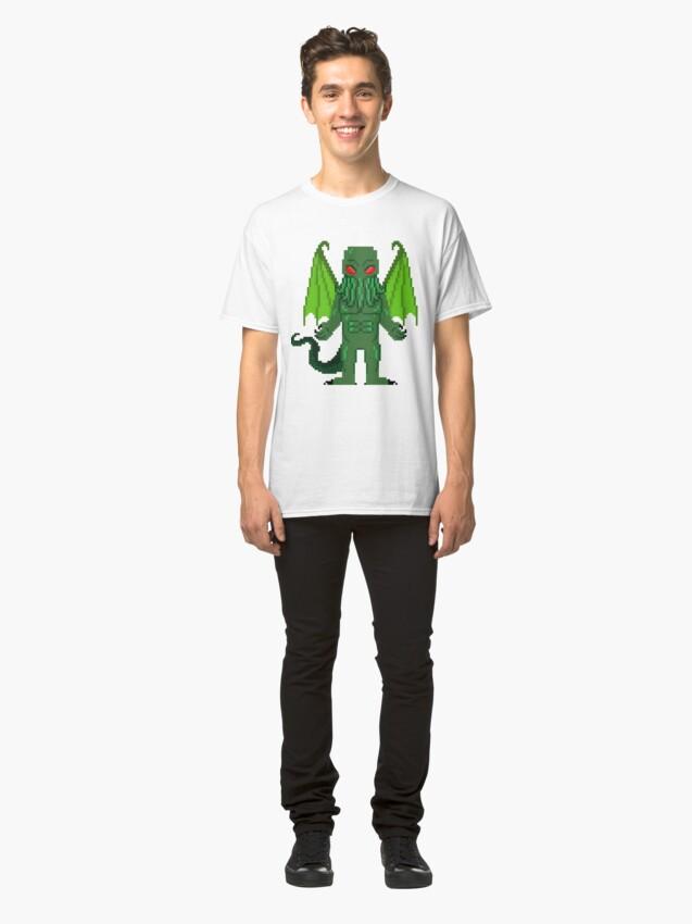 Alternate view of 8-Bit Cthulhu Classic T-Shirt