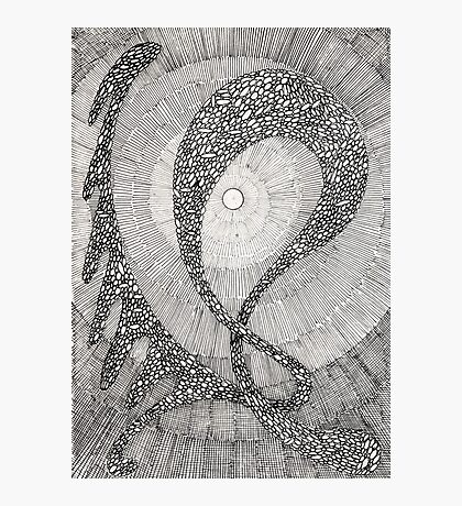 159 - DANCING PEBBLES - DAVE EDWARDS - INK - 1988 Photographic Print