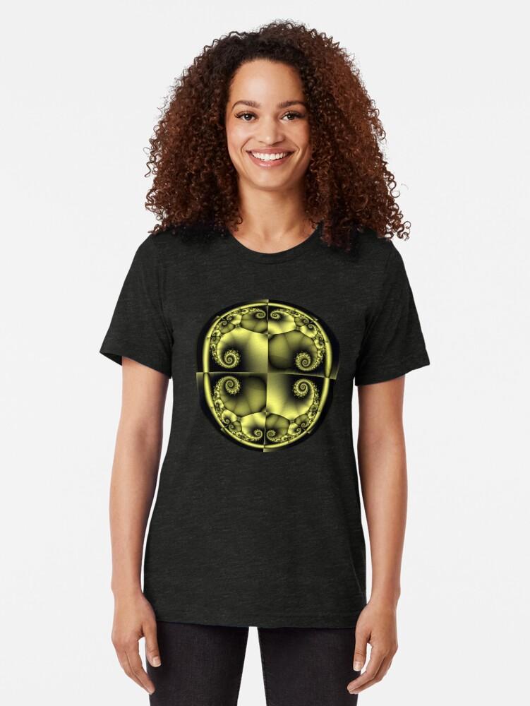 Alternate view of spheric I Tri-blend T-Shirt