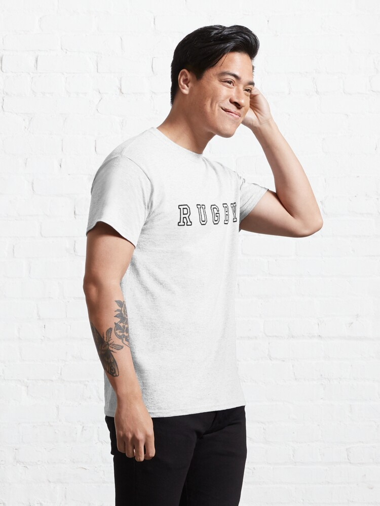 Alternate view of Rugby Typography  Classic T-Shirt