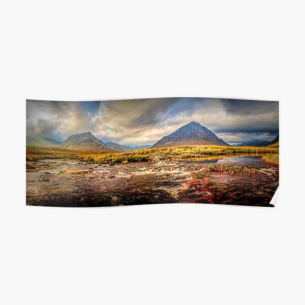 Buachaille And The River Etive Poster
