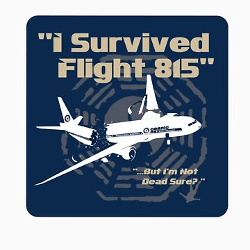I survived Flight 815 Sticker by godgeeki