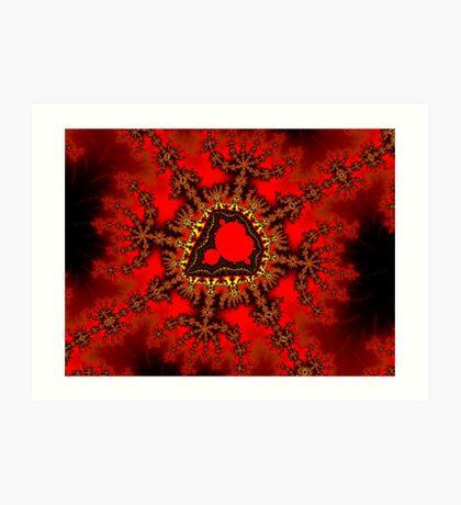 Red Mandelbrot  Art Print