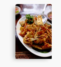 Indonesian Food Canvas Print