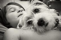 best mates - a boy and his dog by Tam  Locke