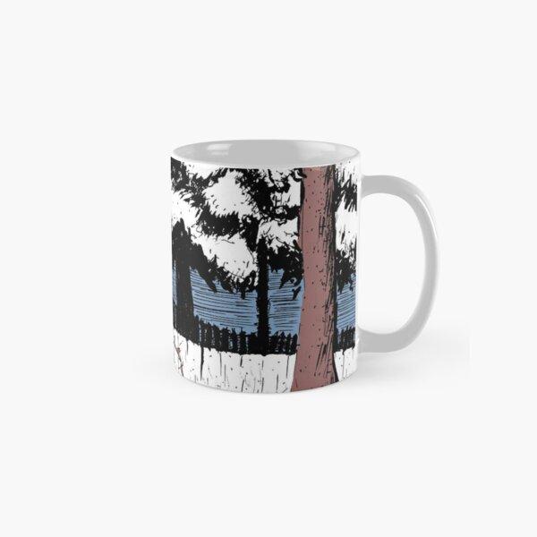 Backyard Snowfall Classic Mug
