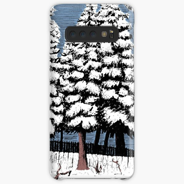 Backyard Snowfall Samsung Galaxy Snap Case