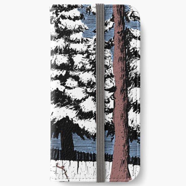 Backyard Snowfall iPhone Wallet