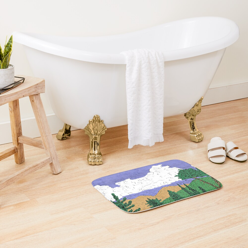 View of Freel Peak Bath Mat