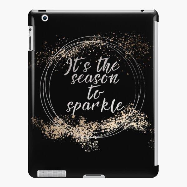 Black Sparkly Christmas Decor iPad Snap Case