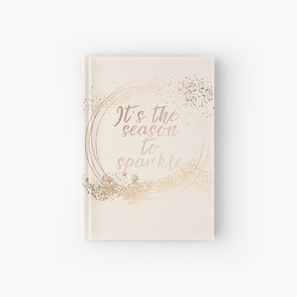 Gold sparkly Christmas decor Hardcover Journal