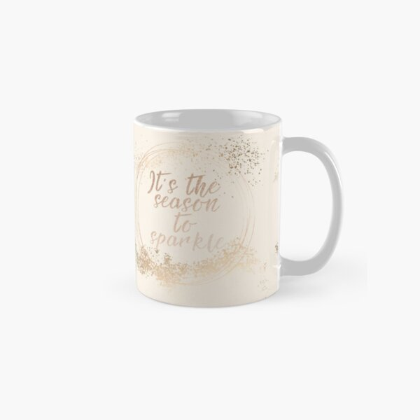 Gold sparkly Christmas decor Classic Mug