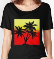 Palm Tree Silhouette Women's Relaxed Fit T-Shirt