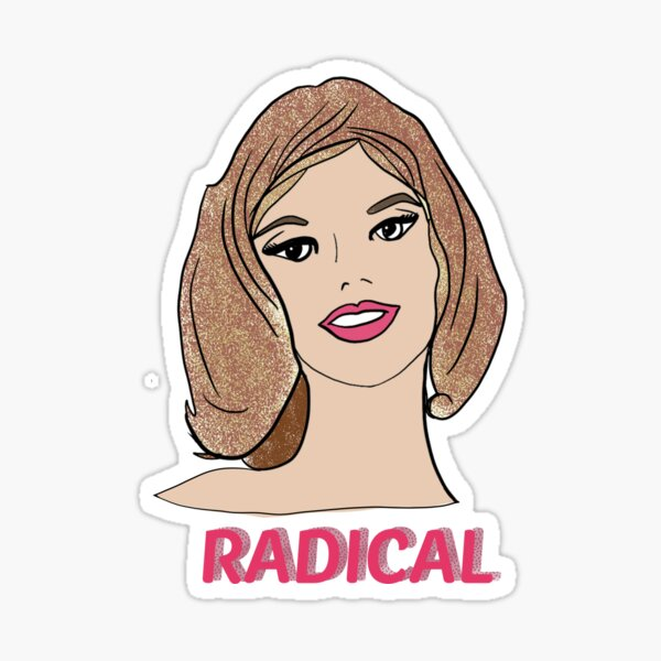 Lady Head Radical Sticker Sticker