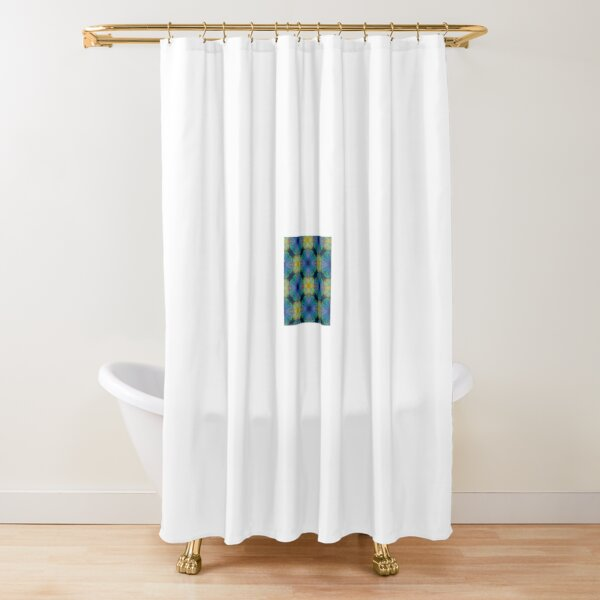 Purple and Yellow patch Shower Curtain