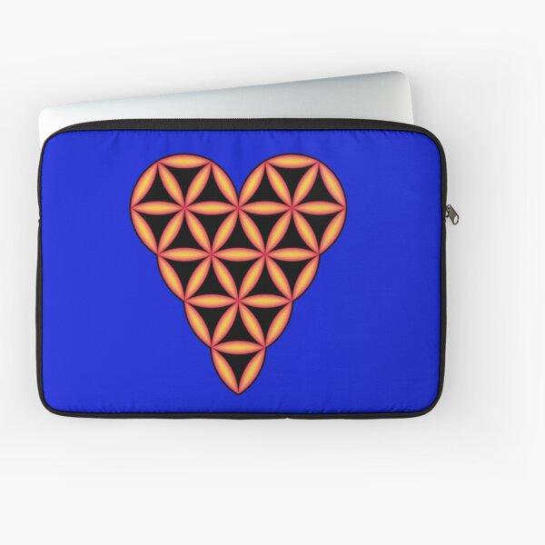 Heart of Life - 3D, Orange. Laptop Sleeve