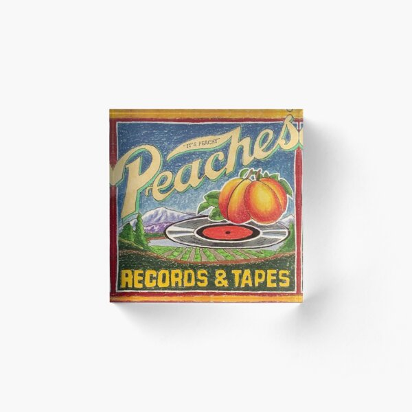 Peaches Records and Tapes Acrylic Block