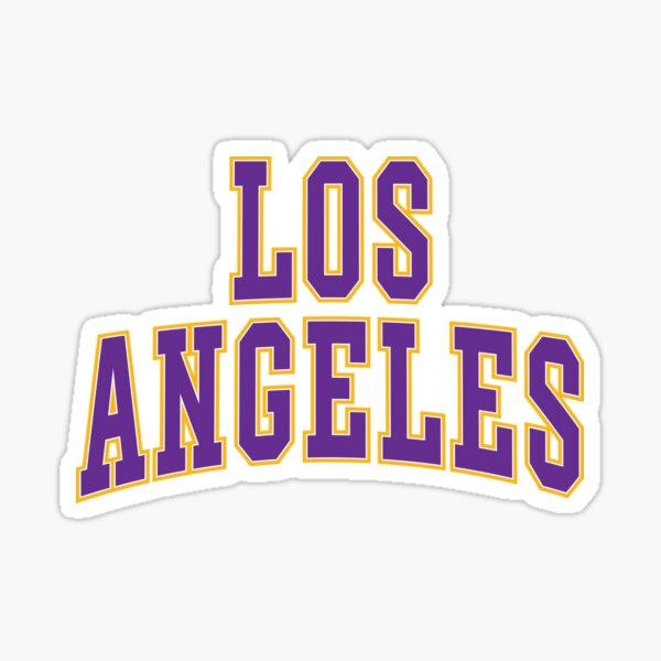 Los Angeles - Púrpura y dorado Pegatina