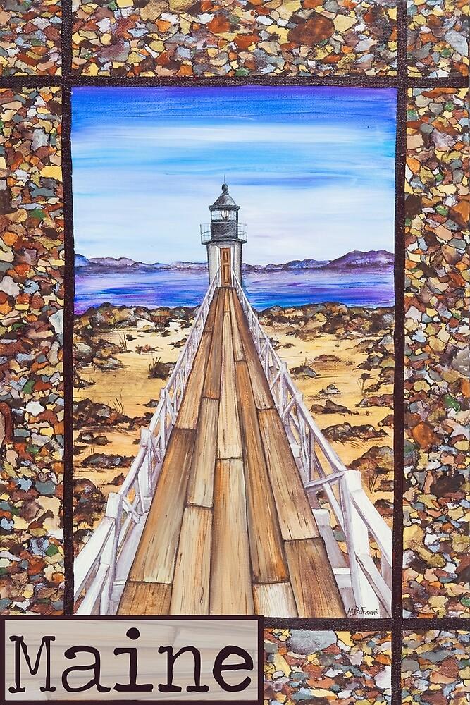 Marshall Point Lighthouse Port Clyde Maine by ByFerrari