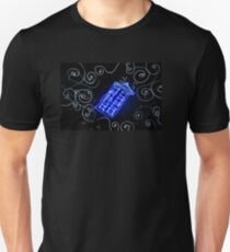 Dr Who Tardis painted with LED light T-Shirt