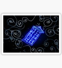 Dr Who Tardis painted with LED light Sticker