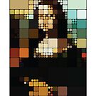 Monalisa Pixelated by Charlize Cape