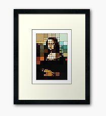 Monalisa Pixelated Framed Print