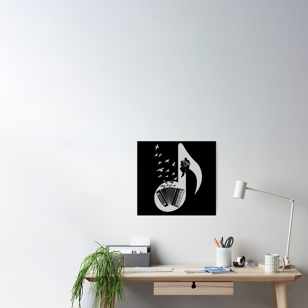 Musical note - Accordion Poster