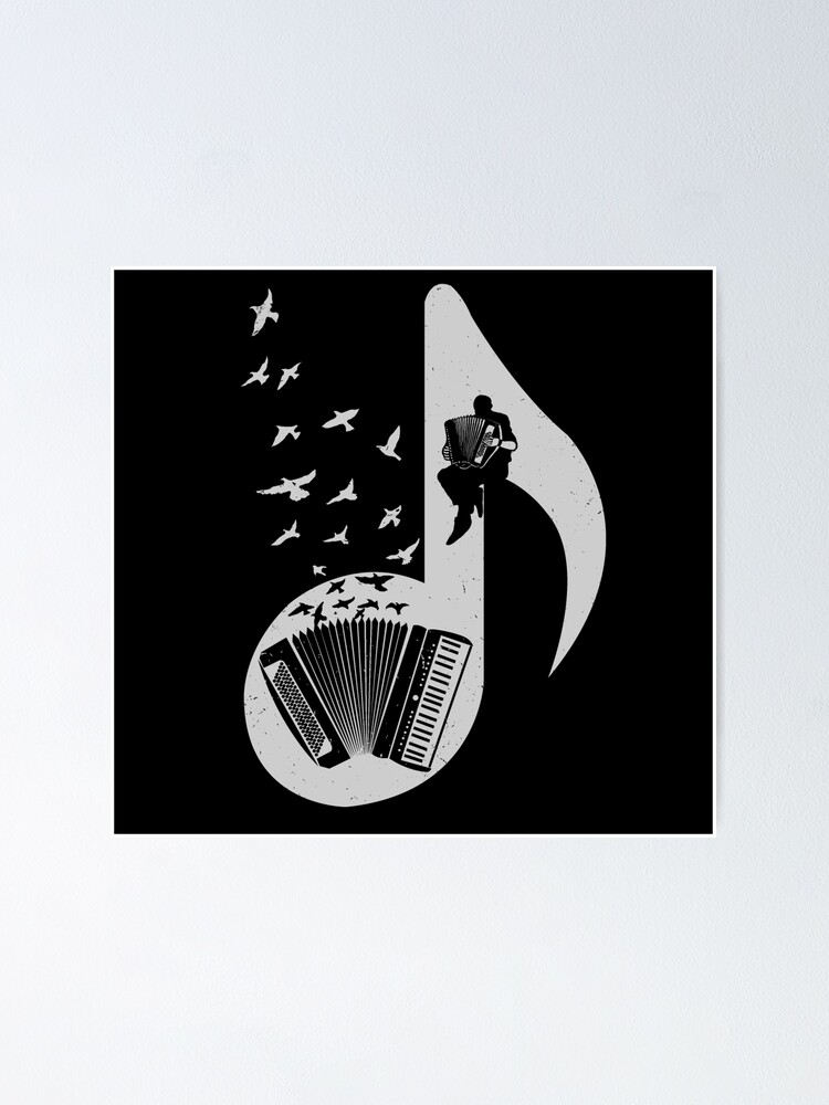 Alternate view of Musical note - Accordion Poster