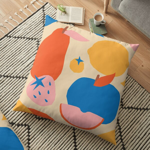 Fruits popart collage Floor Pillow